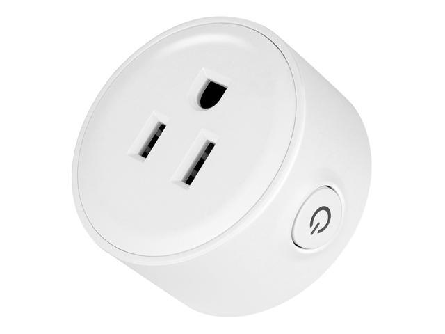 Geekbes S07 Smart Socket WiFi Mini Plug APP Remote Control Timing Socket Works with Alexa -White
