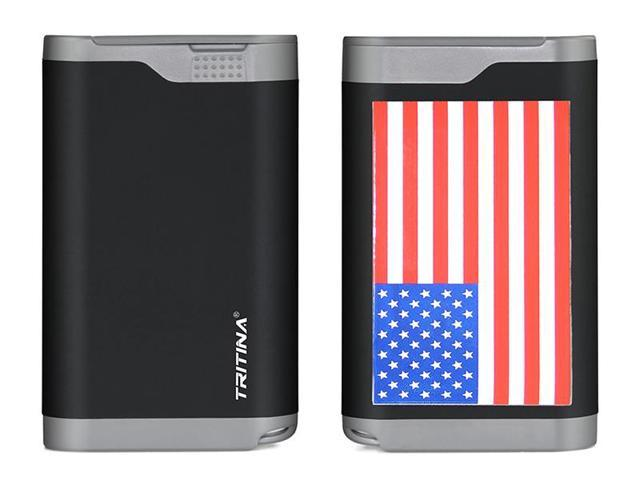 Tritina Portable Power Bank 7800mah Rainproof Dust Proof Cover Dual USB Port External Battery Charger, LCD Indicator,for Apple Iphone, Ipad, Samsung Galaxy and Other Cell Phones and Tablets--- (Black+