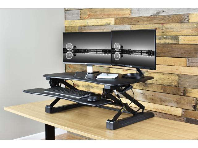 Vivo Black Deluxe Height Adjustable Standing Desk 36