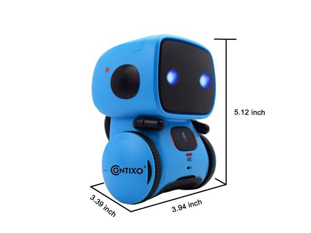 Contixo R1 Kids Mini Talking Robot   Voice Controlled, Sings & Dance, Funny for Adults & Family, Interactive Children's Toy for Boys, Girls, Infants & Toddlers (Blue)