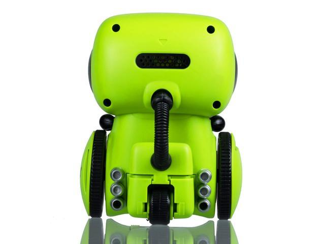 Contixo R1 Voice Controlled Smart Kids Toy Robot | Interactive Talking Touch Sensor Dancing Voice Recording Speech Recognition for Infant Toddler Children Robotics (Green)