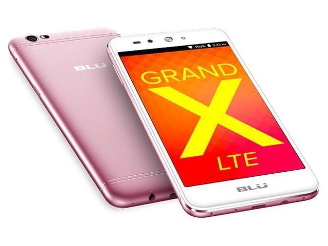 BLU Grand X LTE G0010WW Unlocked GSM Dual-SIM Phone w/ 8MP Camera - Rose Gold