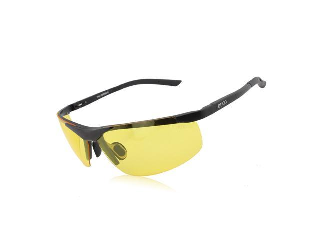 Duco Night-Vision Anti-Glare Polarized Driving Glasses Aluminum-Magnesium Frame 6806