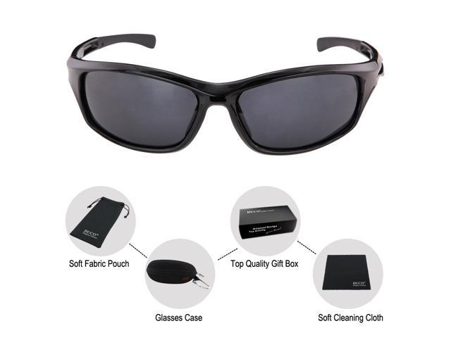0fe591ab9f ... DUCO Polarized Sunglasses for Running Cycling TR90 Unbreakable Frame  6199 ...