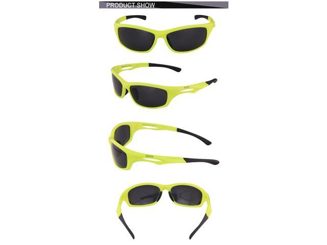 2a6759d5f2 DUCO Polarized Sunglasses for Running Cycling TR90 Unbreakable Frame 6199  ...