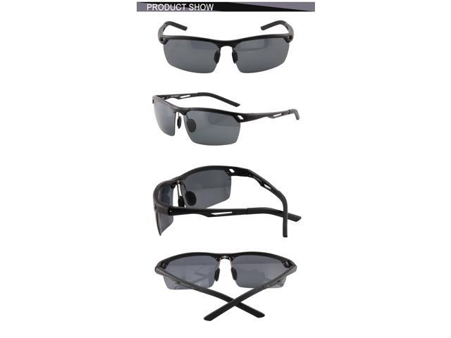 Duco Men's Polarized Sports Sunglasses with Unbreakable Metal Frame 8550