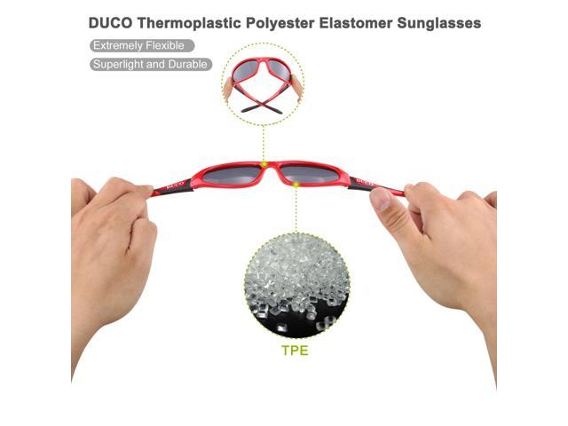 d7e6c9b6c1 ... Duco Kids Sports Style Polarized Sunglasses Rubber Flexible Frame For  Boys And Girls ...
