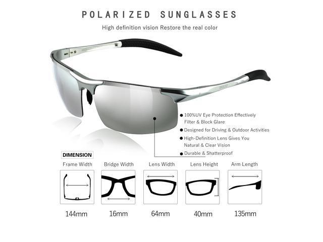 2033d667cc5 Duco Men s Sports Style Polarized Sunglasses Driver Glasses 8177S (Silver  Frame Mirror Lens) ...