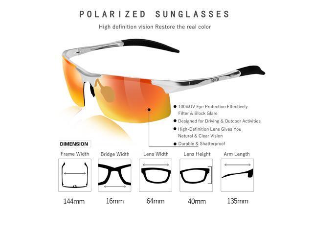 a6d4260b66e ... Duco Men s Sports Style Polarized Sunglasses Driver Glasses 8177S (Silver  Frame Revo Gold Lens) ...