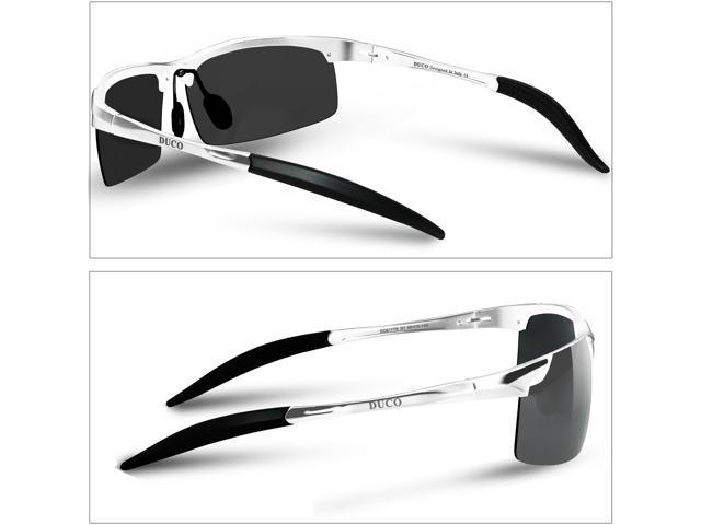 957465a9b40 Duco Men s Sports Style Polarized Sunglasses Driver Glasses 8177S (Gunmetal  Frame