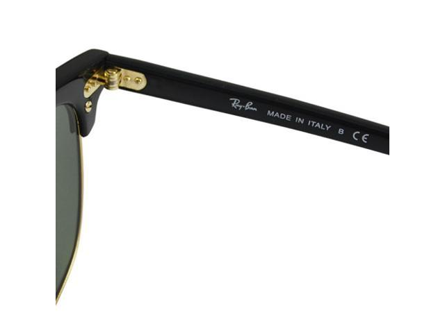 5f04cc9ced Ray-Ban Classic Clubmaster RB3016 W0365 Black Arista Gold Frame G-15 Lens  ...