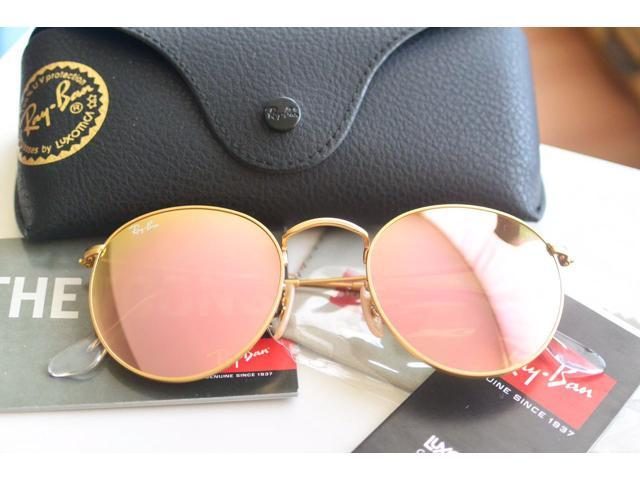 83baa00968c15 low cost ray ban womens pink round metal sunglasses rb3447 112 z2 50mm  matte d60db f961c