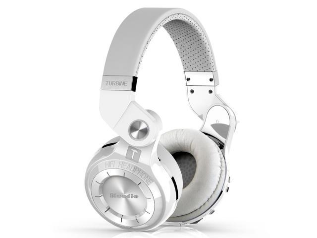 Bluedio T2S (Turbine 2 Shooting Brake) Wireless Bluetooth 4.1 Stereo On Ear Headphones - White