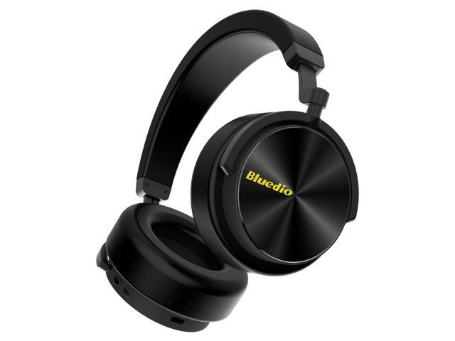 Bluedio T5 Active Noise Cancelling Wireless Bass Bluetooth Headphones Portable Stereo Headsets with Mic for Phones and Music (black)