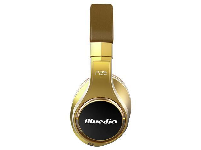 Bluedio UFO Faith Series High-End Bluetooth Headphones Revolution Patented 8 Tracks/3D Sound Effect/Aluminum Alloy Build/Hi-Fi Rank Wireless/Wired Over-Ear Headphones - Gold