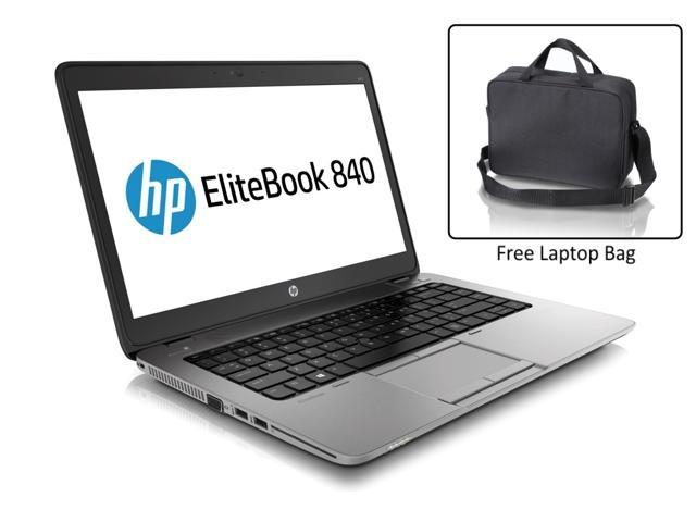 "Refurbished: HP Elitebook 840 G1 i7 4600U 8G 500G 14"" (1600x900) CAM W7 Pro Bluetooth USB 3.0 Finger Reader - FREE Carrying Case"