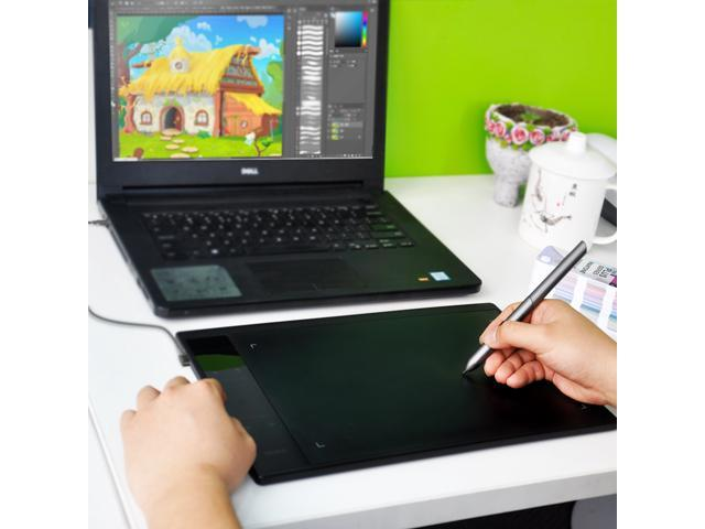 VEIKK A30 10x6 inch Digital Graphics Drawing Tablet Pen Tablet with 8192 Levels Passive Pen and Smart Gesture Touch & 4 Touch Keys