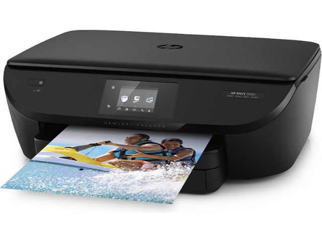 Refurbished: HP ENVY 5660 F8B04A Wireless Inkjet All-in-One Printer - Up to 1200 x 1200 dpi Black, Up to 4800 x 1200 dpi Color - Up to 14 ppm Black, Up to 9 ppm Color - USB 2.0 - Black