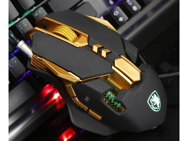 sades soul blade wired gaming mouse 5 level dpi 4 level weight