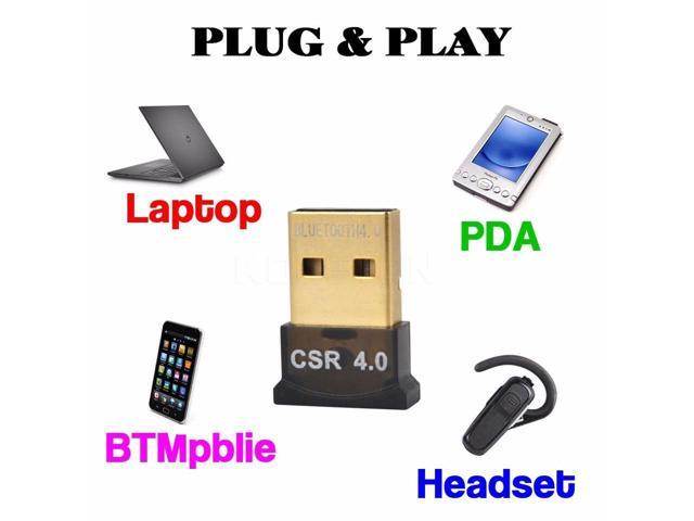 Bluetooth 4.0 Adapter, CORN Wireless Bluetooth CSR 4.0 Dongle Adapter Compatible with Windows 10,8.1/8,7,Vista, XP, 32/64 Bit and Classic Bluetooth, Stereo Headset Compatible