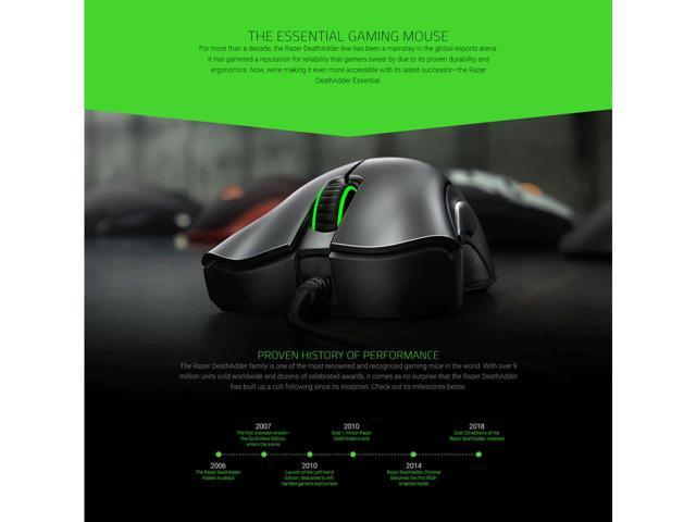 Razer DeathAdder Essential 6400DPI Wired PC Gaming Mouse