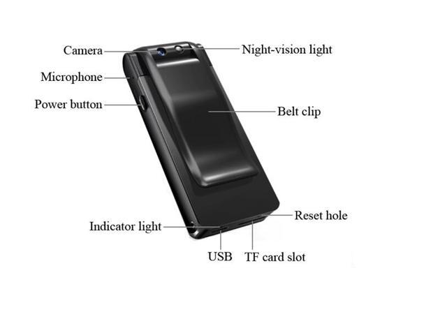 Tekit Mini Clip Full HD 1920x1080P Night vision video shooting rotatable camera with Vibrate alert and loop recording,portable spy  hidden camera