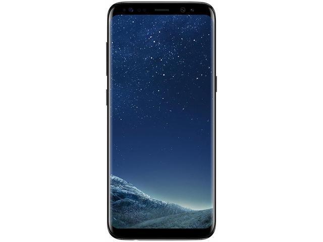 """Refurbished: Samsung Galaxy S8 64GB Midnight Black 5.8"""" 12MP 3000mAh LTE Unlocked"""