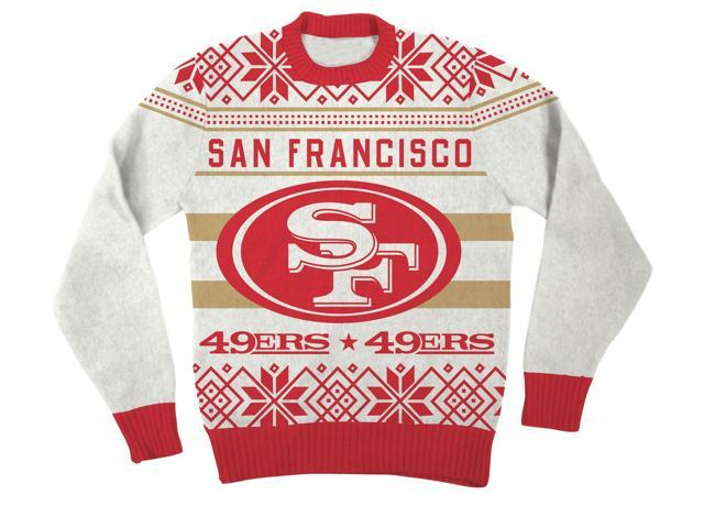 NFL San Francisco 49ers Logo Adult Red Football Ugly Christmas ...