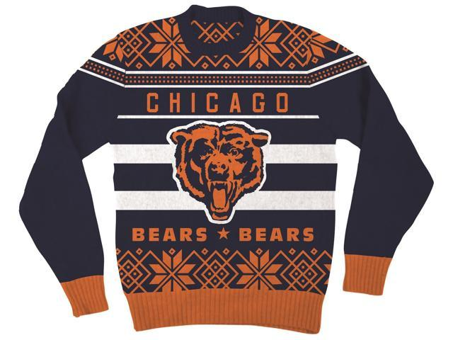 NFL Chicago Bears Logo Adult Navy Football Ugly Christmas Sweater ...