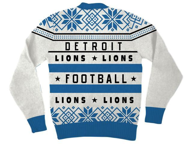 50288a98 NFL Detroit Lions Logo Adult Football Ugly Christmas Sweater ...