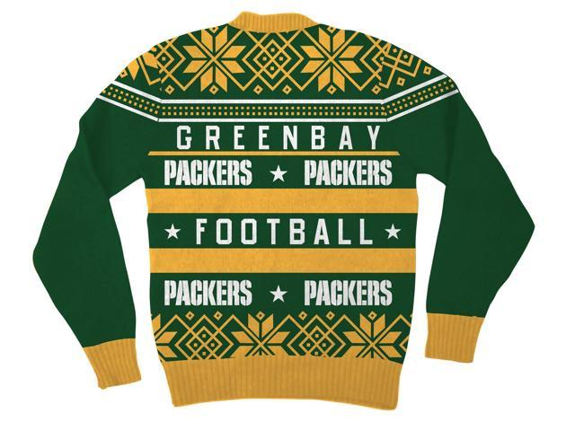 nfl green bay packers logo adult green football ugly christmas sweater - Adult Ugly Christmas Sweater