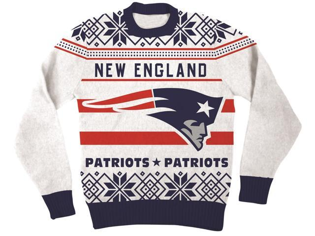 Deals on NFL New England Patriots Logo Adult Football Ugly Christmas Sweater