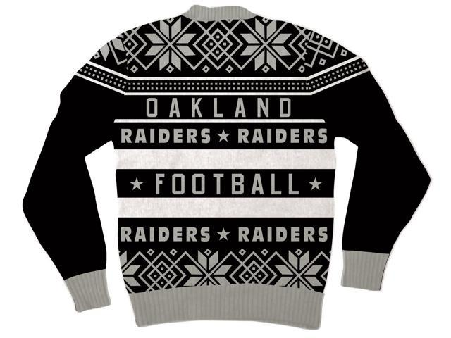 Nfl Oakland Raiders Logo Adult Black Football Ugly Christmas Sweater