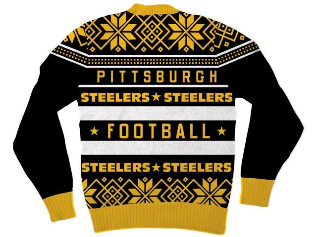 NFL Pittsburgh Steelers Logo Adult Black Football Ugly Christmas ...