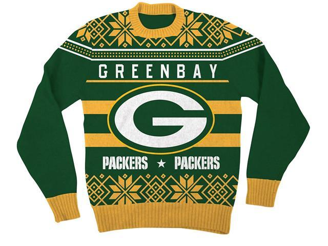 NFL Green Bay Packers Logo Adult Green Football Ugly Christmas ...