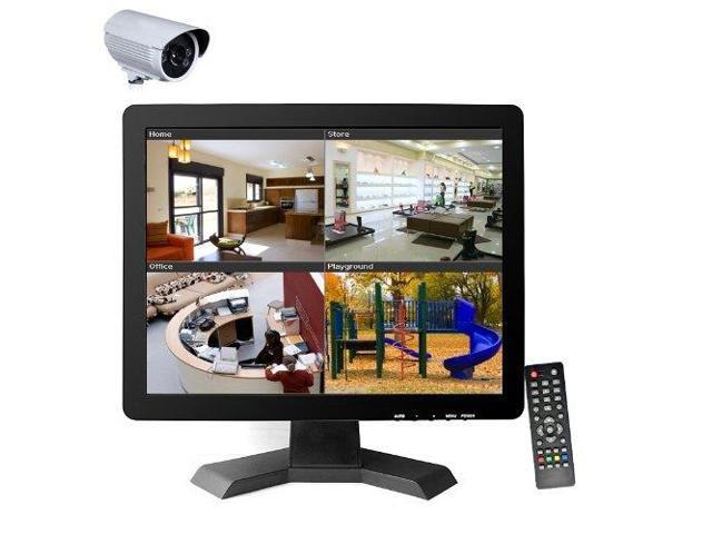 "Vibob 15"" CCTV TFT LCD Monitor With BNC/HDMI/VGA/USB Input (Black)"