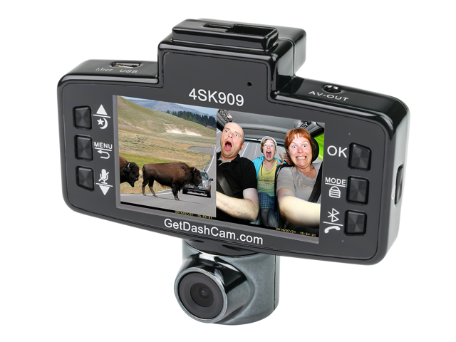 The Original Dash Cam 4SK909X Twister X, Dual Lens, Hands Free Bluetooth calling, Infrared LED for night viewing