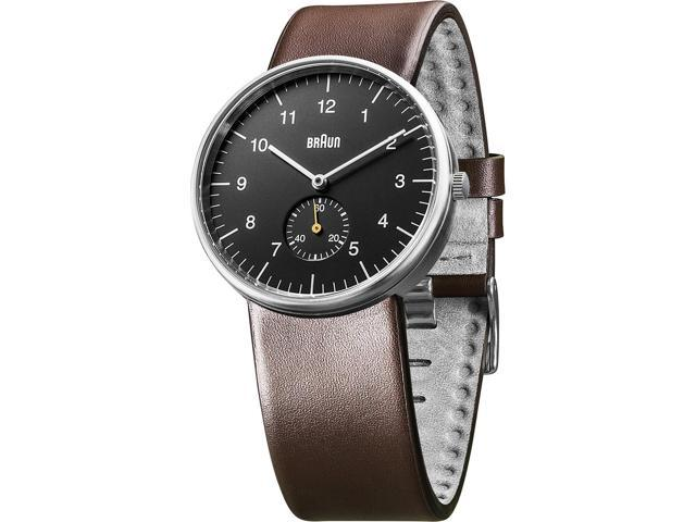 Braun Men's BN0024BKBRG Brown Leather Leather Quartz Watch