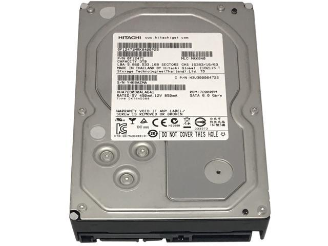 "Refurbished: Hitachi Ultrastar 7K3000 HUA723030ALA641 3TB 7200 RPM 64MB Cache SATA III 6.0Gb/s 3.5"" Enterprise Hard Drive - w/1 Year Warranty - OEM"