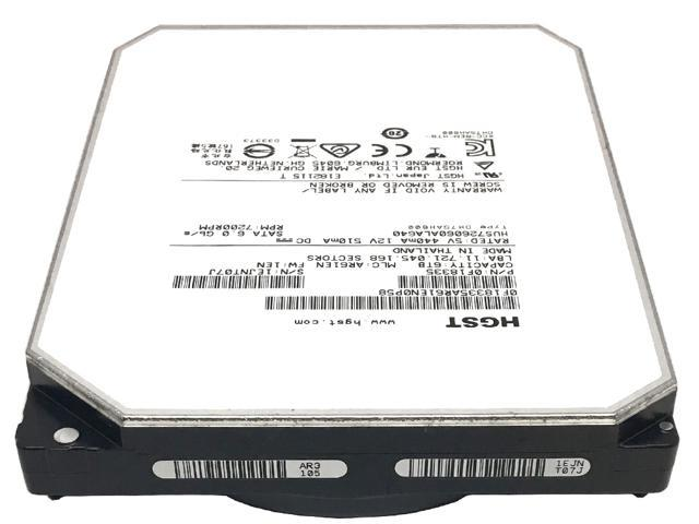 "Refurbished: HGST Ultrastar HE6 HUS726060ALA640 (0F18335) 6TB 7200RPM 64MB Cache SATA 6.0Gb/s 3.5"" Enterprise Hard Drive - OEM"