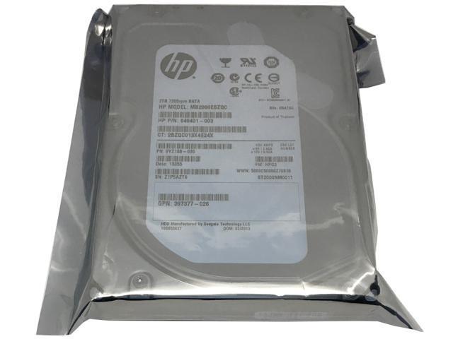 HP/Seagate Constellation ES ST2000NM0011 (649401-003) 2TB 7200RPM 64MB Cache SATA 6.0Gb/s 3.5inch Internal Enterprise Hard Drive w/1 Year Warranty - OEM