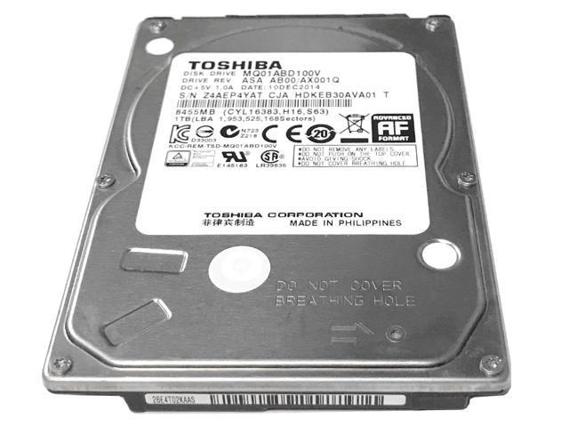 Toshiba 1TB 5400RPM 8MB Cache SATA 3.0Gb/s 2.5inch Notebook Hard Drive (MQ01ABD100V) - 2 Years Warranty - OEM