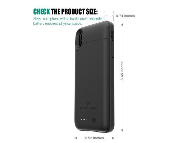 iPhone X Battery Case, ZeroLemon iPhone X 4000mAh Slim Juicer Extended Battery Case Rechargeable Charging Case for iPhone X [Apple Certified Connector]-Black - OEM