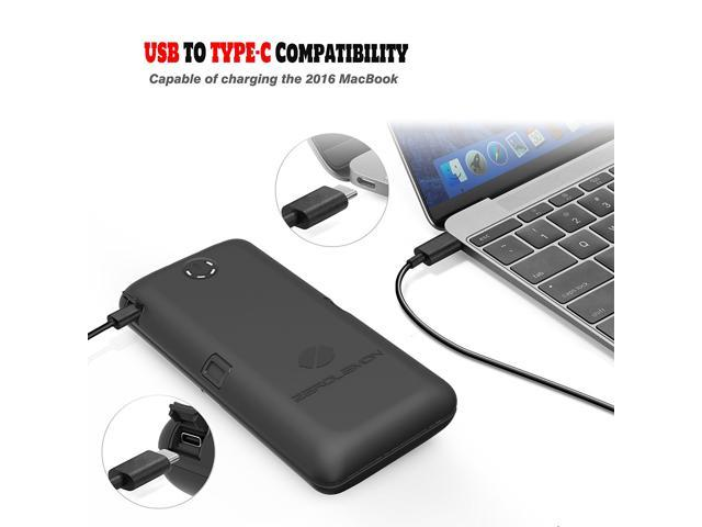USB C Power Bank ZeroLemon ToughJuice 30000mAh 7A Output Portable Charger with QC 2.0 Qualcomm Quick Charge 2.0, 5-Ports Type C Input & Output Rugged Battery Pack for MacBook, Note 8, Switch and More