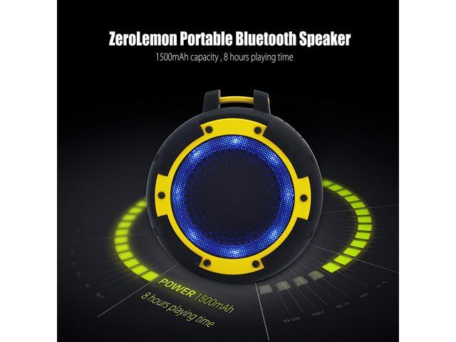 ToughSound Portable Wireless Bluetooth Speaker IPX8 Waterproof & Shockproof with Bicycle Bracket and Suction Cup for Shower, Bike, Beach, Party and More
