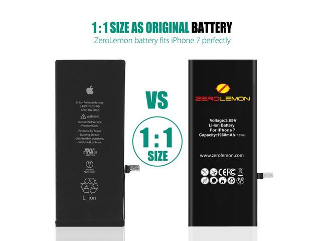 ZeroLemon 1960mAh Battery for iPhone 7 Replacement with Complete Repair Tools Kit and Instruction [Not for iPhone 7 Plus] Speed up Your iPhone