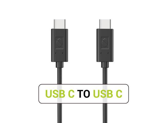 USB C to USB C Cable, ZeroLemon Type C to Type C 3.3ft Fast Charging Sync Cable for Nintendo Switch, Samsung S9 S8 Plus Note 9 MacBook Pro LG V30 Google Pixel 2 XL and More (Black)