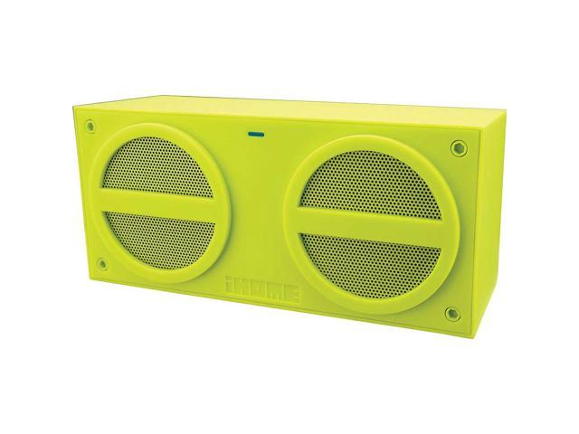 Refurbished: iHome Portable Rubberized Rechargeable Bluetooth Stereo Mini Speaker - IBN24QX