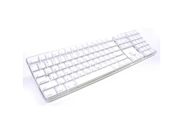 Refurbished: Apple Wired USB Full Sized Multimedia Shortcuts Keyboard - White - M9034LL/A