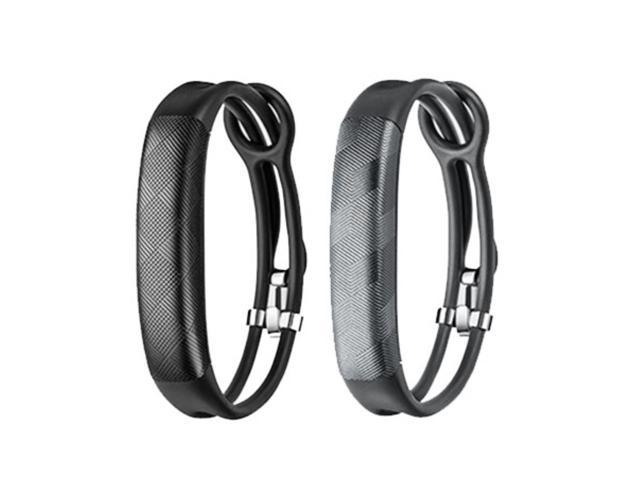 Jawbone UP2 His & Her Lightweight Strap Fitness Trackers for Smartphones - 2 Pack - Black & Gray